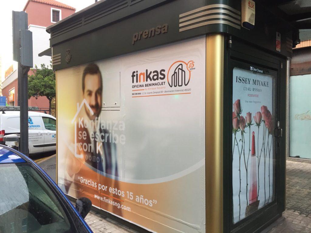 publicidad en kioscos, publicidad exterior