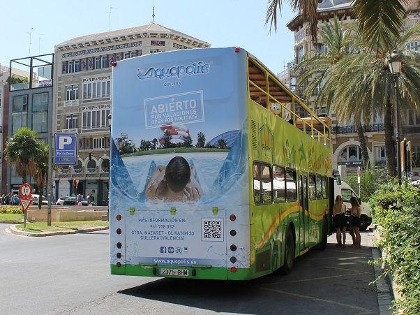 bus turístico Valencia, publicidad exterior