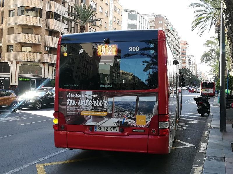 publicidad en autobuses Alicante