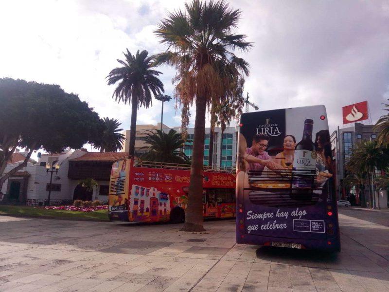 publicidad bus turístico Gran canaria