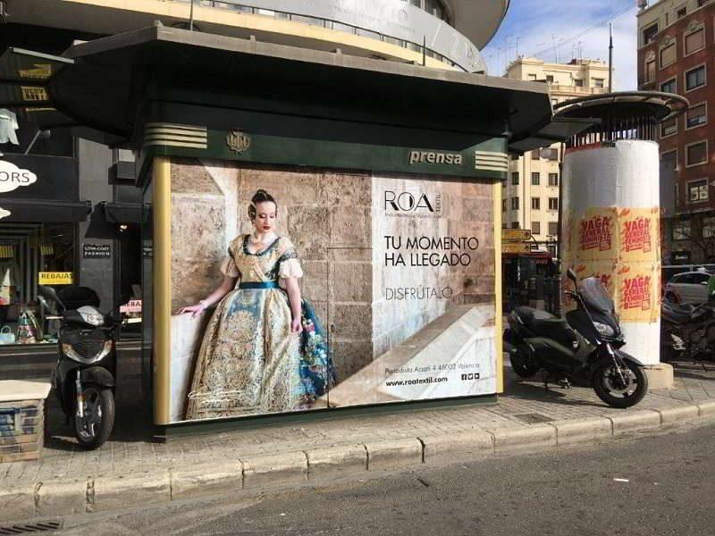 publicidad mobiliario urbano, publicidad kioscos Valencia