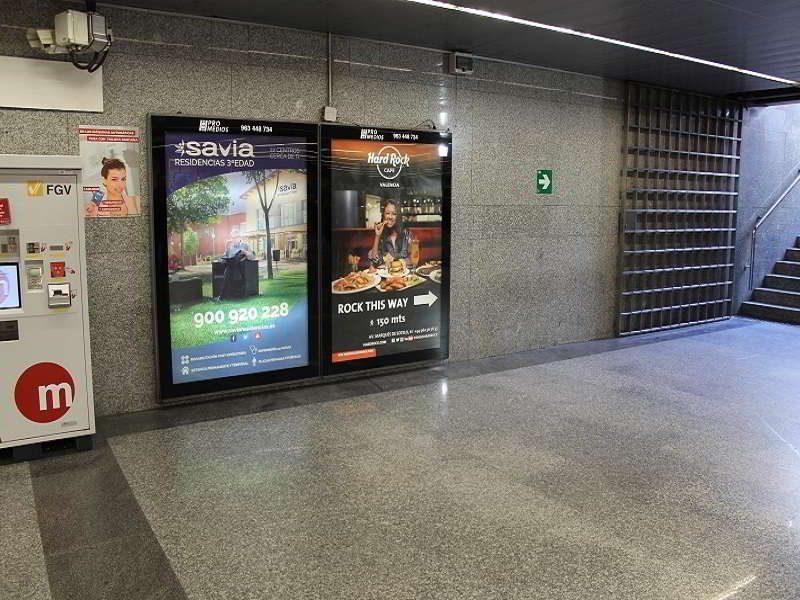 mupis publicitarios, publicidad en el metro