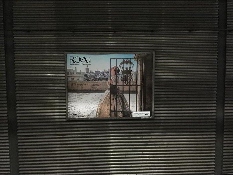 publicidad en el metro